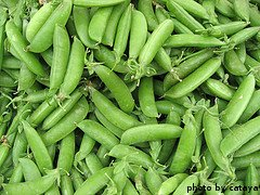 Harvested Sugar Peas