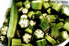 Sliced Okra